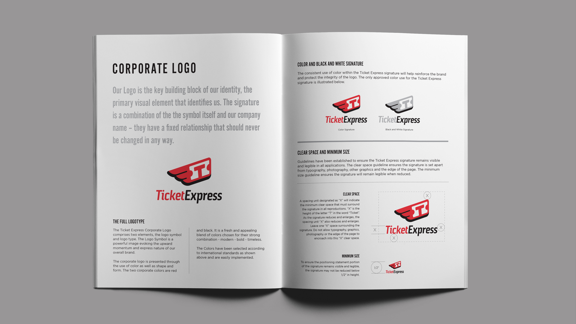 Ticket Express branding standards by Damon Andersen, phoenix branding agency, consultant, expert.