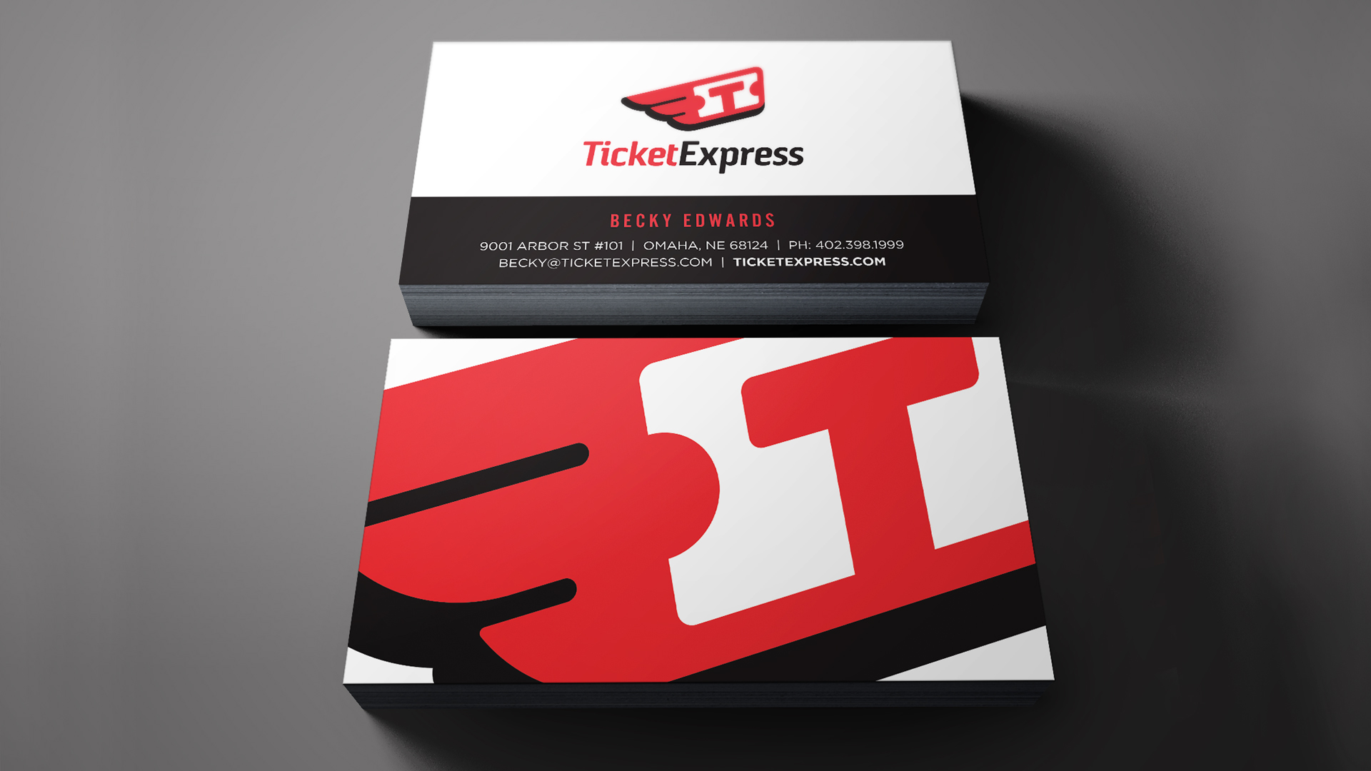Ticket Express business card by Damon Andersen, phoenix branding agency, consultant, expert.