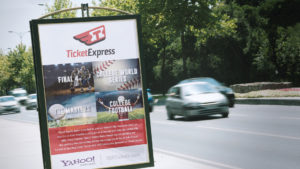 Ticket Express signage by Damon Andersen, phoenix branding agency, consultant, expert.